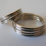 White gold bands