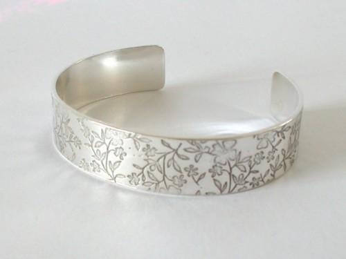 Silver Open Bangle