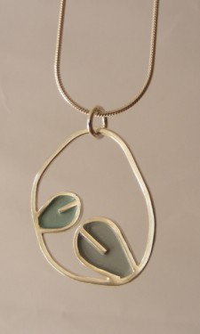 Leaf in Loop Pendant
