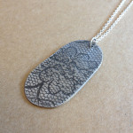 Beautiful lace print used by Justine on her pendant.