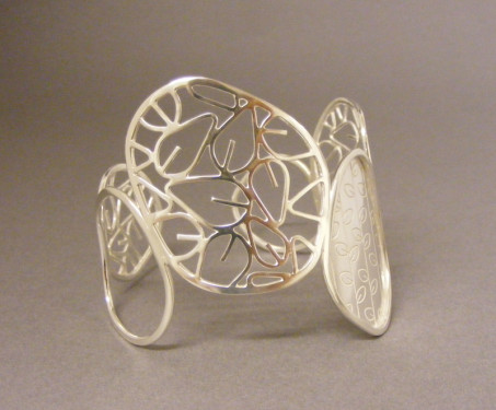 Etched Leaf Cuff