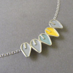 Tiny Solid Leaf Line Pendant