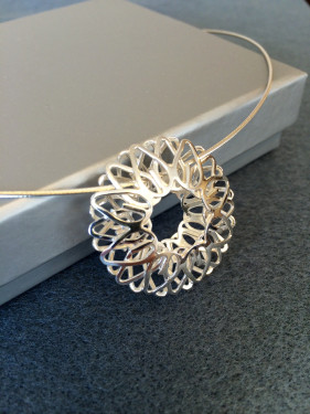 Hollow Spiro Pendant on Wire