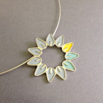 Solid Leaf Circle Pendant